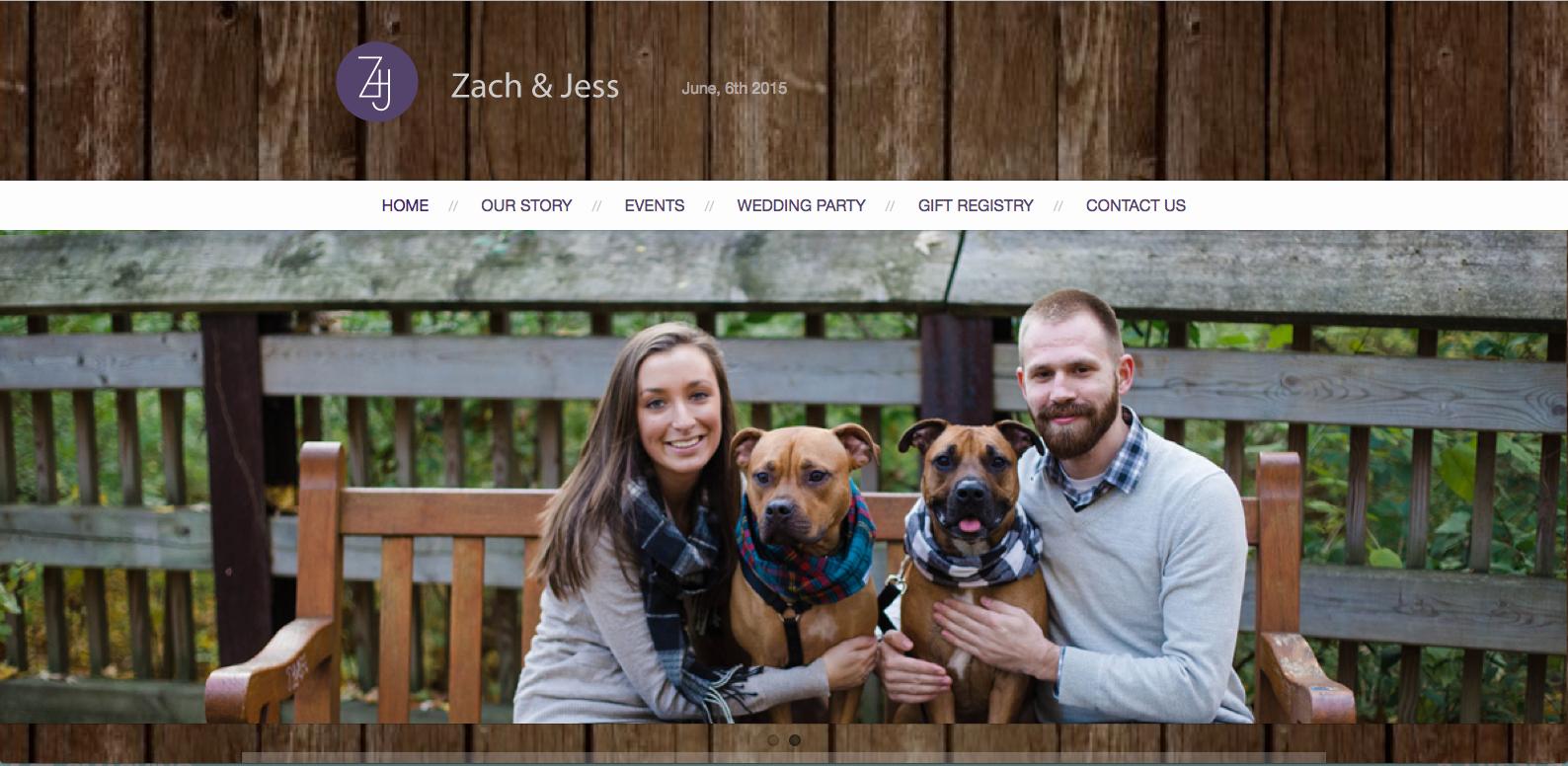 Zach and Jess Wedding Website