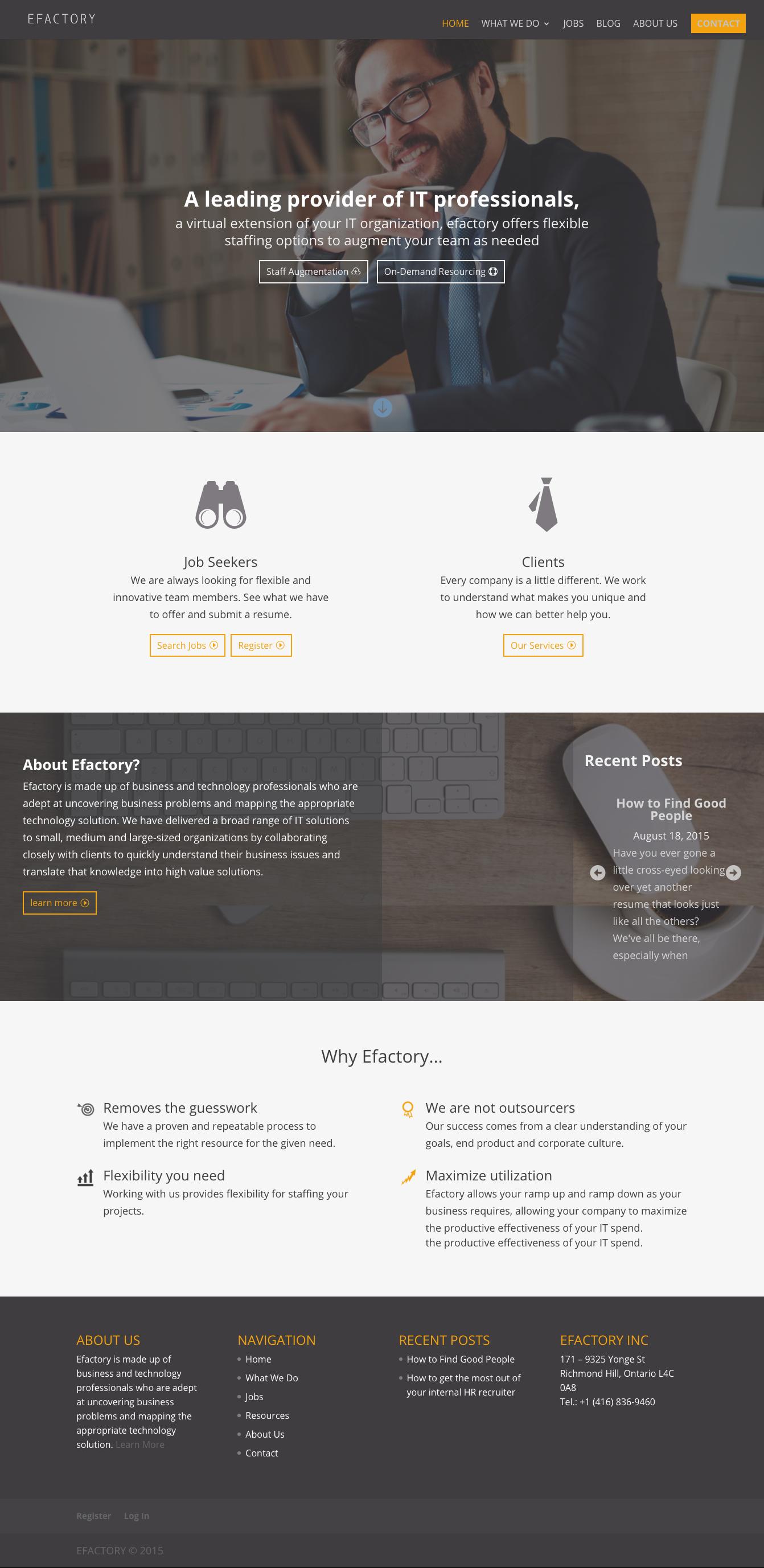 WordPress, Divi, Efactory