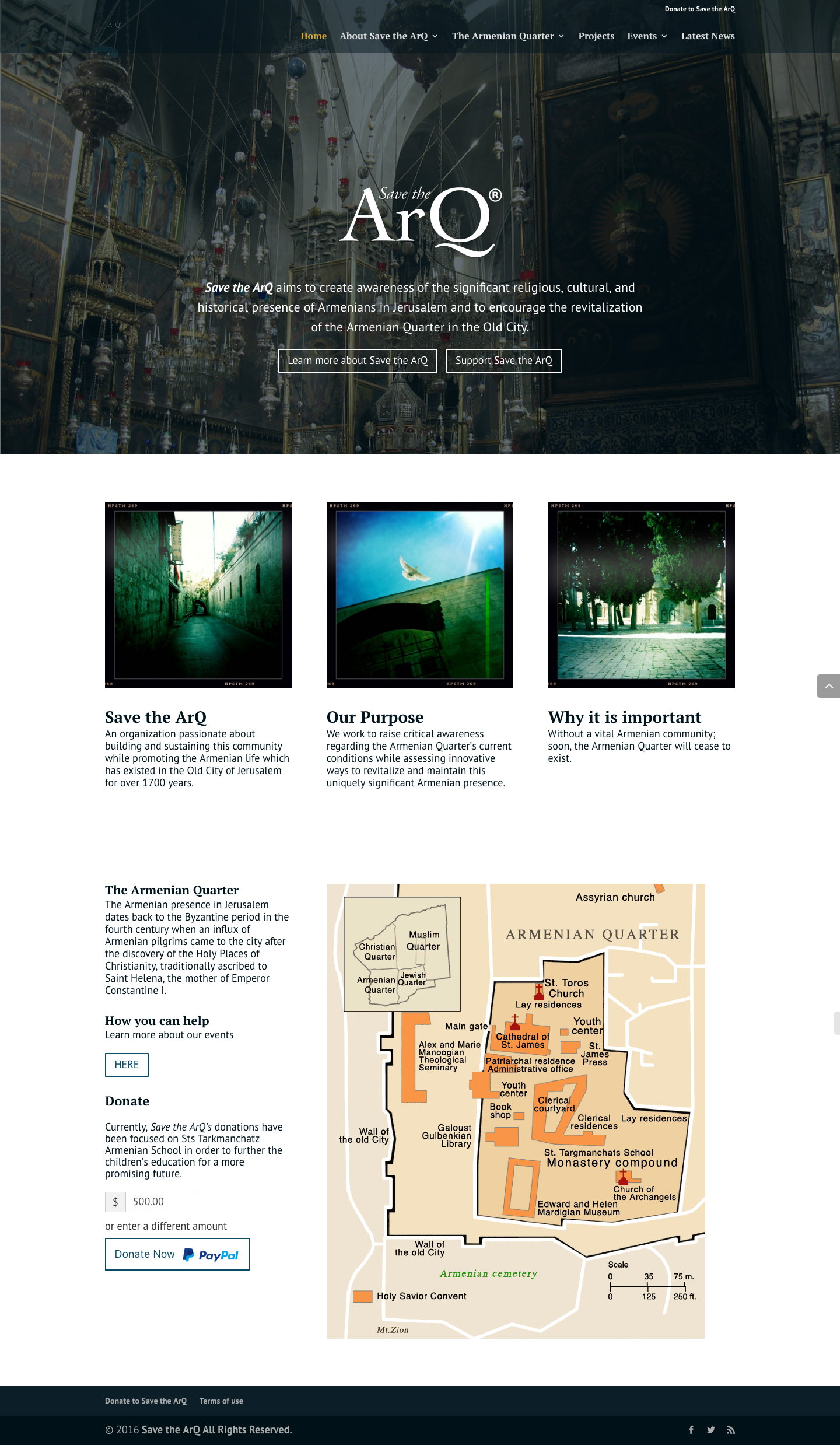 Divi Website - non-profit - save the ArQ